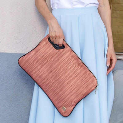 Pleats Big Clutch Purse C-180403